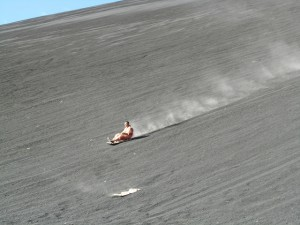 volcano boarding in Niceragua - one of the best places for extreme sports