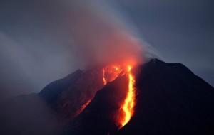 Volcanic activity in Indonesia