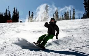 Snowboarder in Utah Zach Dischner