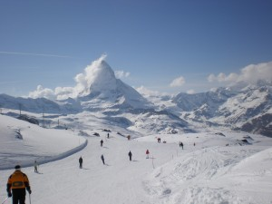 where to ski in the swiss alps