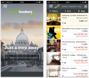 HostelBookers travel apps
